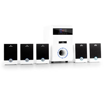 Auna 5.1-JW, 5.1 Surround Sound System, Heimkinosystem, 95 Watt