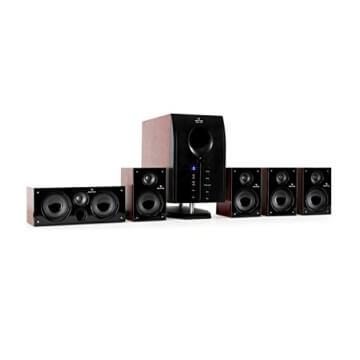 Auna Areal 525 WD, Heimkinosystem, 5.1 Surround Sound System