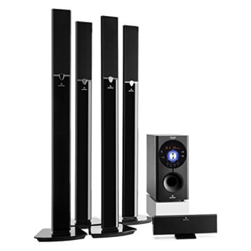 Auna Areal 653, 5.1-Surround Sound-System, Heimkinosystem